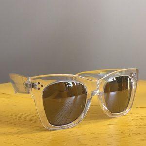 Anthropologie, clear framed sunglasses!
